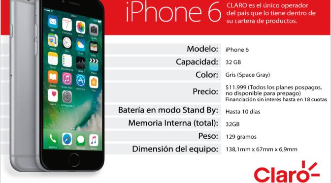 CLARO – Lanzamiento a la venta iPhone 6