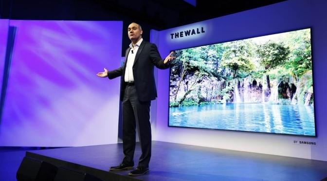 Samsung presentó un televisor que es una pared: 146 pulgadas de tamaño